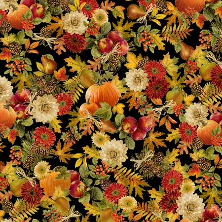 Harvest Pumpkins Fabric