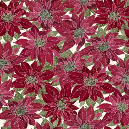 Holiday CM7756 Red Poinsettia w/Metallic