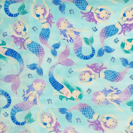 Aqua Mermaids w/Metallic TT043020