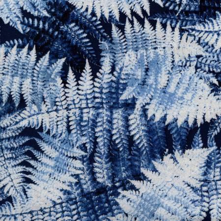 Blue Winter Fern w/Metallic