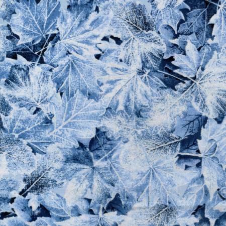 Blue Large Leaves w/Metallic TT092520