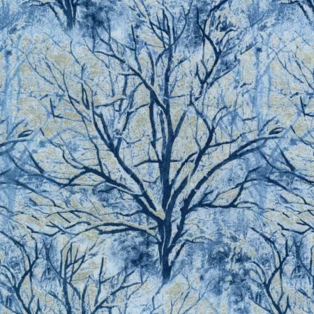 Blue Bare Trees w/Metallic