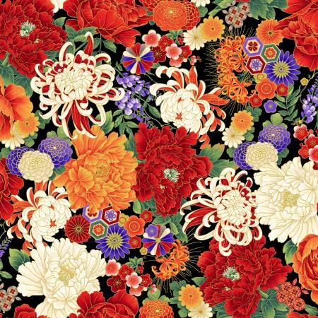Multi Floral w/Metallic