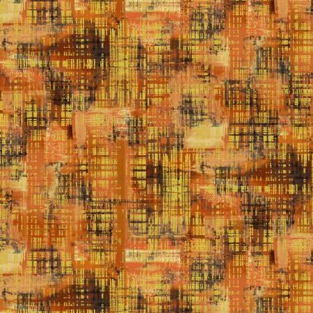 Timeless Treasures Felicity  Texture - Orange (Metallic)