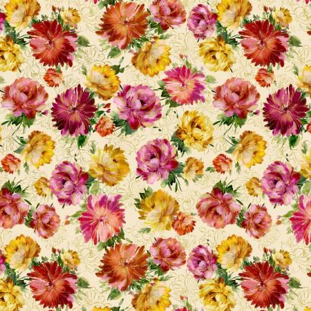 Felicity - Cream Main Floral w/Metallic