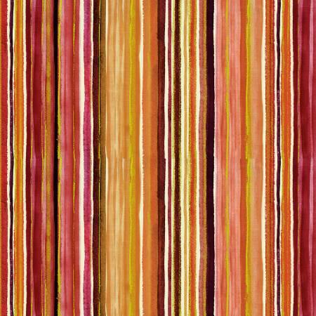 Timeless Treasures Felicity  Stripe - Multi (Metallic