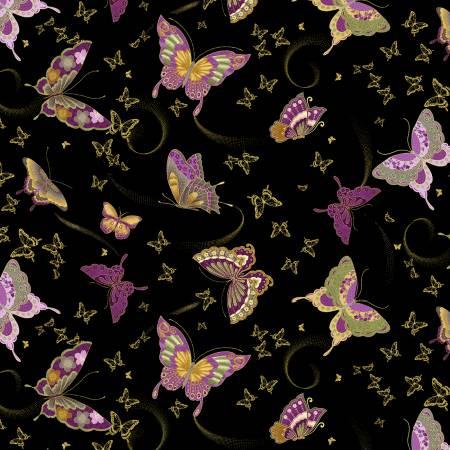 Majestic Black Amethyst Butterflies