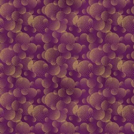 Majestic Purple Metallic Circles
