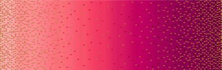 Quintessentials - Ombre Border w/Metallic Gold - Pink - CM9234-PINK
