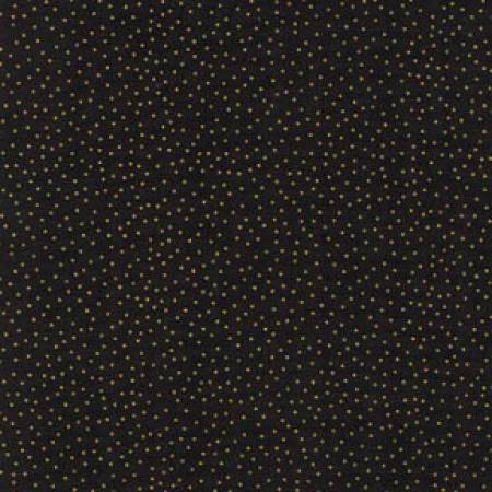 Black with Gold Metallic Dots