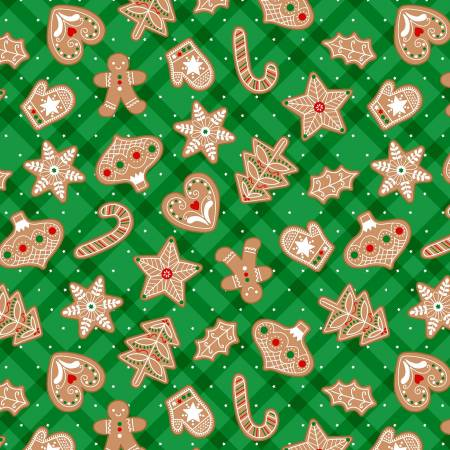 Green Gingerbread Treats w/Metallic CM9634-GREE-D