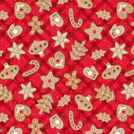 Red Gingerbrad Treats w/Metallic