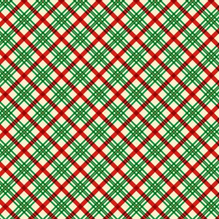 Green Holiday Plaid w/Metallic