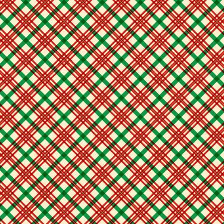 Red Holiday Plaid w/Metallic
