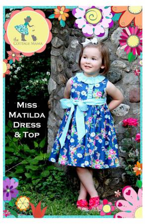 Miss Matilda Dress and Top Pattern by The Cottage Mama