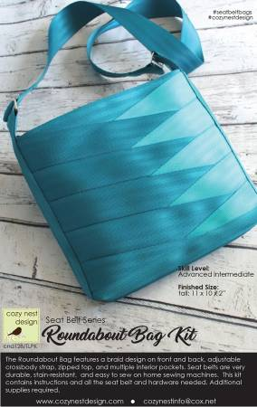 Roundabout Seat Belt Bag Kit in Teal