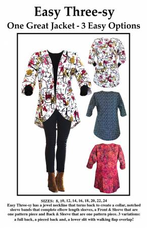 Easy Three-sy Jacket Pattern - CNT - CNT2701