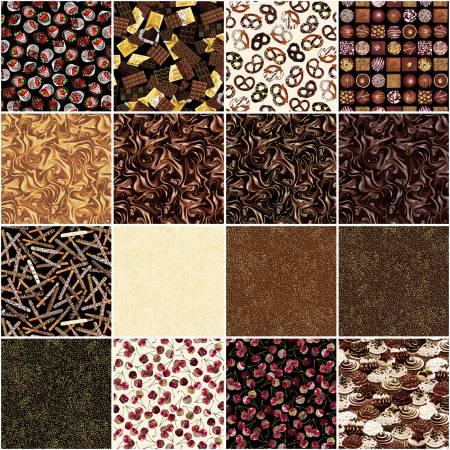 10in Squares Chocolicious, 42pcs/bundle