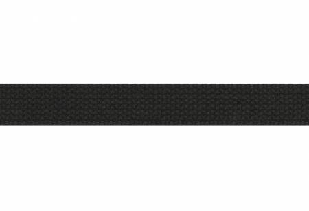 Trim Cotton Webbing  1in Black by the yard