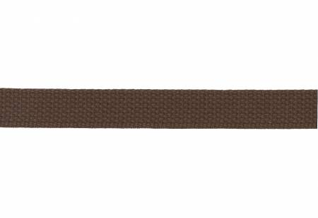 Trim Cotton Webbing  1in Brown