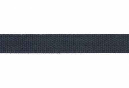 Cotton Webbing  1in Navy