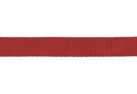 Trim Cotton Webbing  1in Red by the yard