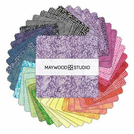5in Squares Color Therapy Batik, 42pcs/bundle