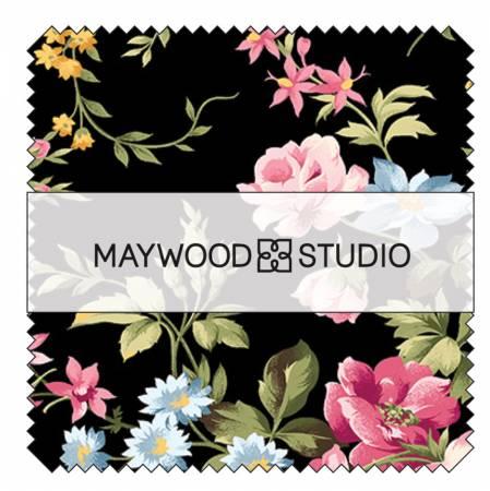 5in Squares Wild Rose Flannel 42pcs/bundle - Maywood Studio
