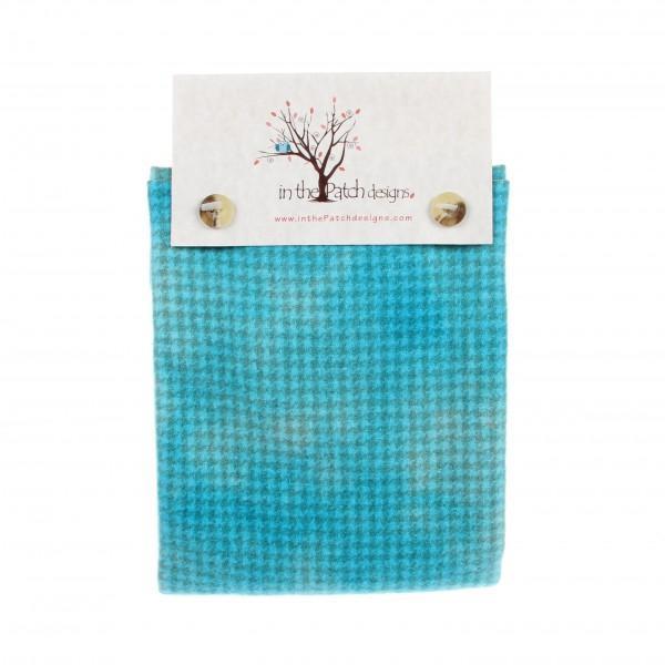 Wool Chubbys 16in Square Robin Egg Blue Plaids/Checks