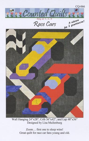 Counted Quilts Race Cars