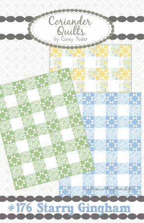 Starry Gingham Quilt Pattern by Corey Yoder