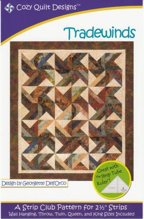 Trade Winds Quilt Pattern by Cozy Quilt Designs - Strip Friendly