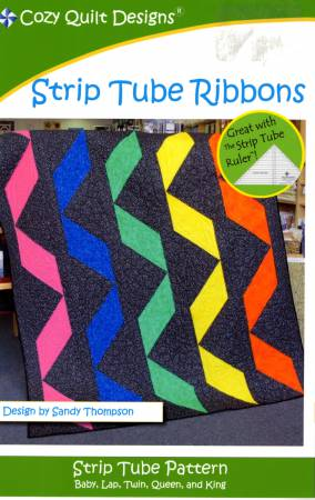 Fat Quarter - Strip Tube Ribbons