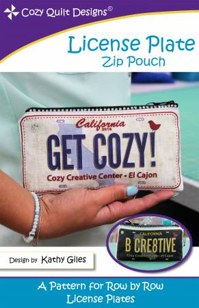 License Plate Zipper Pouch Pattern