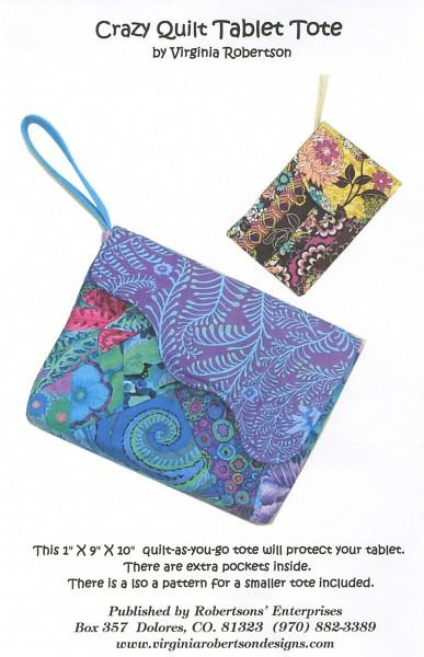 Crazy Quilt Tablet Tote