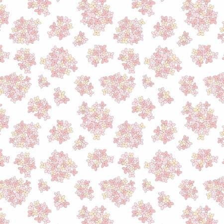 Poppie Cotton White Almost Heaven Floral