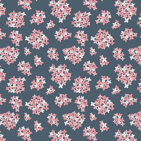Poppie Cotton Navy Almost Heaven Floral