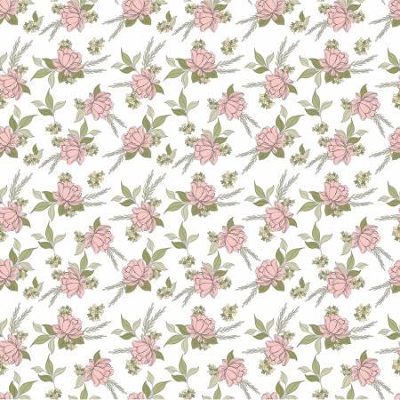 Poppie Cotton White Shenandoa Floral