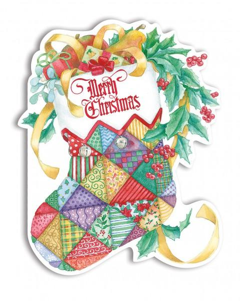 Quilted Stocking Boxed Xmas Cards