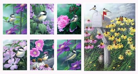 Chickadee Songbird Panel