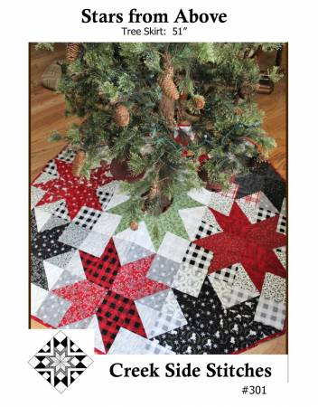 Stars From Above Tree Skirt Pattern
