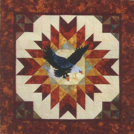 Blaze of Glory -  Eagle Wall Quilt