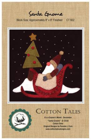 Santa Gnome - 8 x 8 - wool pattern