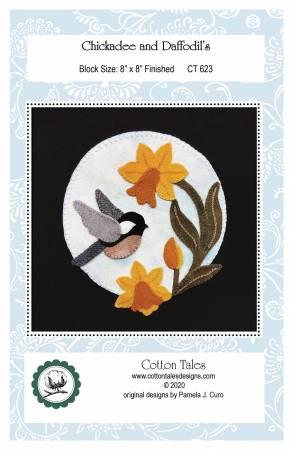 Chickadee and Daffodils Pattern