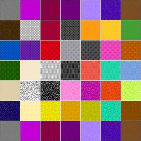 10in Squares Color Theory, 42pcs/bundle