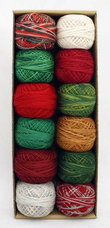 Valdani Pearl Cotton Ball Sz12 109yd 12 Colors Christmas Time