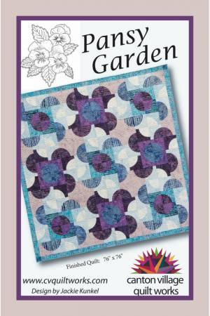 Pansy Garden Batik Pattern design by Jackie Kunkel