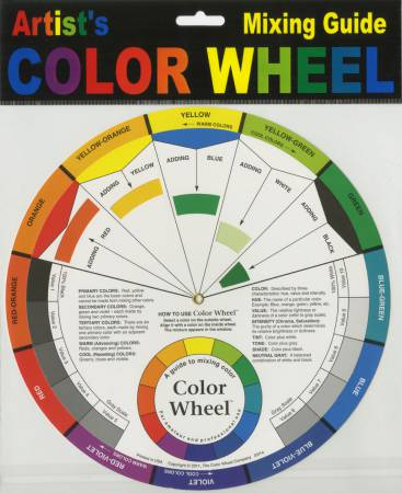 Color Wheel Mixing Guide 9 1/4in