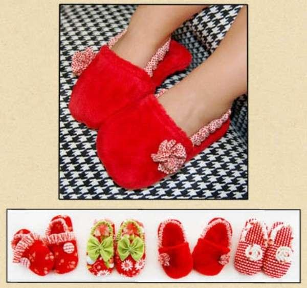 Ruby Red Toddler slippers