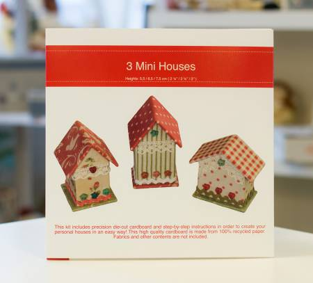 (S) Creative with Cardboard 3 Mini Houses Kit